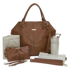 timi & leslie Cinnamon Charlie Bag. A gorgeous warm brown tone in the most stunning baby bag style ever found on this planet!