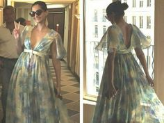 Sonam kapoor in a floral gown at cannes 2015
