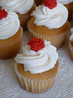 cupcakes: red sugarflower