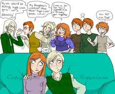 Harry Potter - Draco Malfoy x Ginevra 'Ginny' Weasley - Drinny