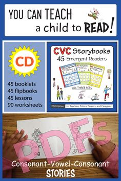 CVC Storybooks: 45 Emergent Readers: PDF Edition - for Teachers, Tutors, Parents, and Caregivers Phonics Books, Teaching Phonics, Emergent Readers, Reading Intervention, Cvc Words, Phonemic Awareness, Decoding, Early Literacy, Learn To Read