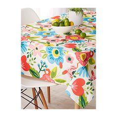 Simons Maison Work of art flower tablecloth ($18) ❤ liked on Polyvore featuring home, kitchen & dining, table linens, flower table cloth, colorful tablecloths, polyester tablecloths, outdoor tablecloth and beaded tablecloth