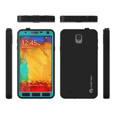 Amazon.com: Ghostek Atomic Blue Samsung Galaxy Note 3 Waterproof Case W/ Attached Screen Protector - Lifetime Warranty - Slim Fitted Waterproof Shock proof Dust proof Dirt proof Snow proof Hard Shell Cover Case for Galaxy Note 3 III N900 N9000 N9002 N9005 N9009 GHOCAS78: Cell Phones & Accessories