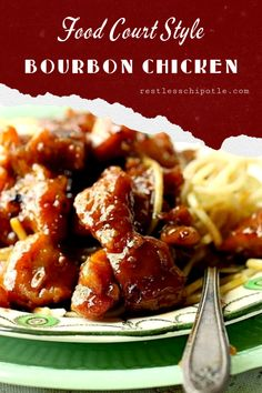 Low Carb Recipes To The Prism Weight Reduction Program Easy Bourbon Chicken Recipe Is A Yummy Copycat Of The Food Court Favorite Quick And Delicious Stovetop And Slow Cooker Instructions, Plus Tips And Tricks. Bourbon Chicken Recipe Easy, Chicken Wing Recipes, Food Court, Sweet And Spicy, Different Recipes, Fruits And Veggies, Food Preparation, Copycat, Low Carb Recipes