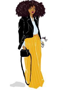 Black Girl X Jaune Moutarde Pants