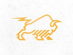 Pictorial Logo Dribbble - Bison + Power by Mike Bruner