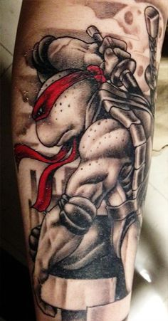 I new this would look sick black and white, but only there mask colour I wanna get my tattoo so bad.