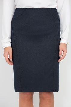 Юбка из фактурной ткани Emka Fashion 567-memory - Malinka-fashion.ru