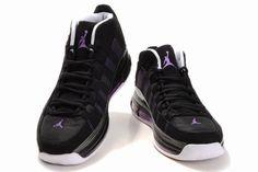 Air Jordan Take Flight Black Varsity Purple White is a completely new look for an Air Jordan basketball sneaker.