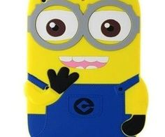 3D Cute Despicable Me 2 Minions Style Rubber Soft Case Cover Fun for iPad 2/3/4, iPad Air - iPad Air Cases - iPad Cases