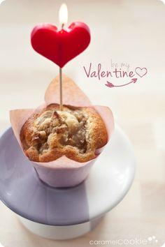 muffins san valentin | caramel cookie