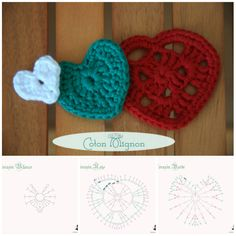 Tutorial in italianoAlberello con cuori a uncinetto – Schema. ❤CQ #crochet #hearts #valentines