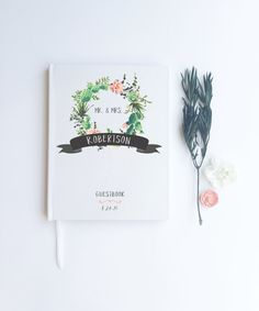 Succulent Wedding Guest Book. Custom Wedding Guestbook. Succulent Wedding Decorations. Wedding Journal. Wedding Book. Custom Notebook