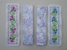 cross stitch bookmarks - how to finish off. Easy tutorial