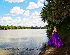 Incorporating her passion for fishing to her graduation photos makes this photo even more special.  #yeg #graduation #fishing