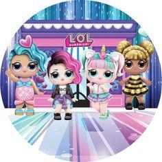 Painel de Festa Redondo Tecido Casinha Boneca Lol no Monkey Crafts, Edible Printing, Paper Dolls Printable, Doll Party, Lol Dolls, Birthday, Cami, Pony, Alice