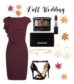 """""""Fall wedding guest"""" by polyvorefashi0n ❤ liked on Polyvore featuring MaxMara, MICHAEL Michael Kors, Dune, Guerlain, FOSSIL, MAC Cosmetics and fallwedding"""