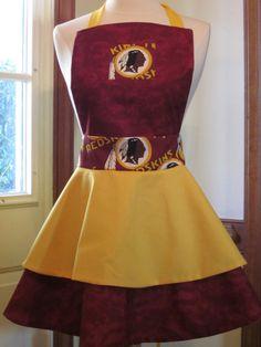 8aaafda7b2 Washington Redskins apron by AJsCafe on Etsy, $35.00 Redskins Gear, Redskins  Baby, Redskins