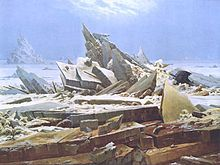 Northwest Passage - Wikipedia, the free encyclopedia  Das Eismeer (The Sea of Ice), 1823–1824, a painting by Caspar David Friedrich, inspired by William Edward Parry's account from the 1819–1820 expedition.
