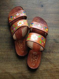 Mexican leather strap sandals by cinnamonnymph on Etsy, $25.00