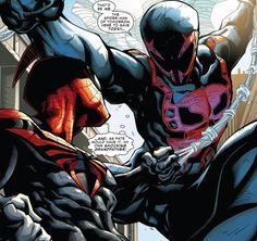 Superior Spider-Man vs. Spider-Man 2099 (from Superior Spider-Man #17)