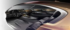 WORLD PREMIERE: The 2017 BMW 5 Series[ATTACH]As one of the nameplates that helped shape the automotive landscape into what we now know today,. Bmw Interior, Car Interior Sketch, Car Interior Design, Interior Design Sketches, Car Design Sketch, Interior Rendering, Car Sketch, Automotive Design, 2017 Bmw 5 Series
