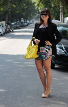 Look do Dia | Short Boxer e Blazer