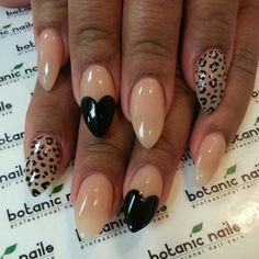 The newest nail shape for Gel Nails. We can do this with our Biosculpture Gel. Mirror Mirror Salon and Spa Kelowna BC #gelnails #nailart #nails