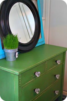 love the green! @ The Modern Cottage