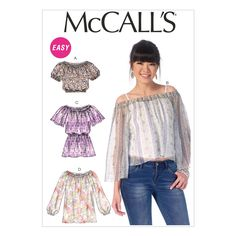 M7163 Misses' Tops (Size: LRG-XLG-XXL) | Fabricville