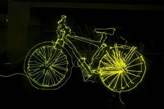 """We've said it before, when it's not swirly flowers and words like """"Love"""" and """"Peace,"""" light art can be pretty cool. Filled with """"sketches"""" of bikes, Photography Terms, Light Painting Photography, Rock Cycle, Light Project, How To Make Light, Light Art, Types Of Art, Traditional Art, Graffiti"""