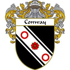 Conway Coat of Arms http://irishcoatofarms.org/ has a wide variety of products with your surname with your coat of arms/family crest, flags and national symbols from England, Ireland, Scotland and Wale