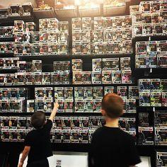 A bit of sensory overload for the boys. So many choices at our favorite local shop Gotham City Comics in Mesa AZ. . . #funko #popvinyl #pop #originalfunko #funkofunatic #funkomania #marvel #funkopops #popwars #toys #starwars #funkopopvinyl #funkofamily #disney #gothamcitycomicsandcoffee #boysandtoys
