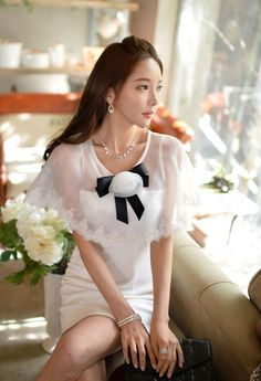 Morpheus Boutique  - White See Through Chiffon Floral Rose Designer Dress, $99.99 (http://www.morpheusboutique.com/new-arrivals/white-see-through-chiffon-floral-rose-designer-dress/)