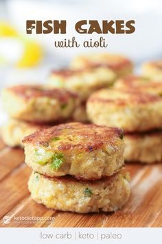 Fish Cakes with Aioli (low-carb, keto, paleo)