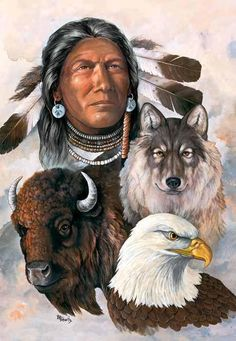 This picture shows the animals that were contacted in the Indian tribe that beaver ruled.