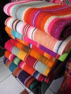 Bolivian blankets - Gypsy River