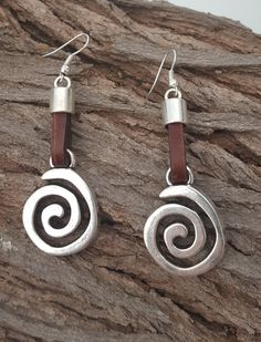 leather Earrings by myDemimore on Etsy
