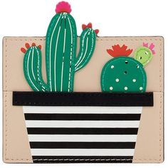 Kate Spade New York scenic route cactus card case ($68) ❤ liked on Polyvore featuring bags, wallets, multi, patent leather bags, kate spade, kate spade bags, credit card holder wallet and card holder wallets