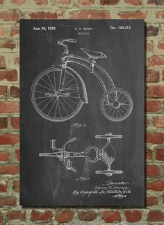 Tricycle Poster Tricycle Patent Tricycle Print by PatentPrints