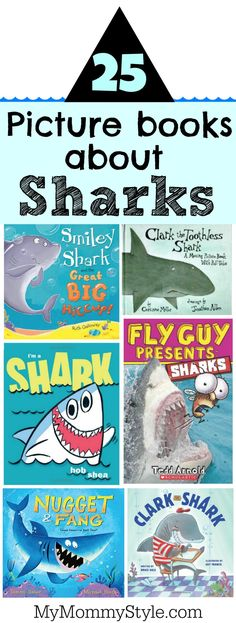 picture books about sharks Shark week is coming in July! Looking for some fun shark books that kids will love to read!Shark week is coming in July! Looking for some fun shark books that kids will love to read! Shark Activities, Preschool Activities, Reading Activities, Educational Activities, Reading Lists, Book Lists, Toddler Books, Childrens Books, Kid Books