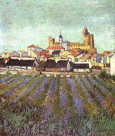 Gogh, Vincent van (Dutch, 1853-1890) - View of Saintes-Maries - 1888