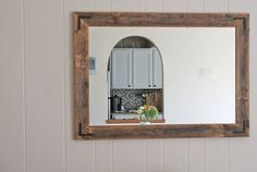 What a lovely accent piece for your home. Our mirrors are designed and handcrafted in our home woodshop. All orders, (regardless of selected
