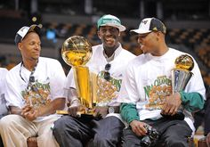 Ray Allen, Kevin Garnett, and Paul Pierce buenos tiempos