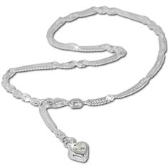 SilberDream anklet Zirkonia heart 925 Sterling Silver 9.8 inch SDF005 -- More info could be found at the image url.