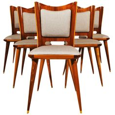 Set Of Six Chairs By Mario Asnago Modern Dining Room