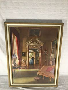 "ANTIQUE CONRAD LEIGH (LITHOGRAPH ?) 'LOVE'S WHISPER'  PRINT SIGNED, 29.5"" x 20.5""  $150.00-$300.00"