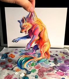 amazing fox 3D. looks like the Firefox logo