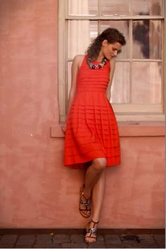 Love everything about this dress- color, style, fit, skirt above the knee