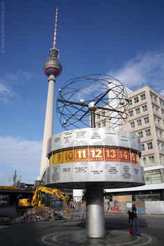 World Clock, Alexander Platz, Berlin, Germany  just a tad ironic. not like the citizens could actually go any where.